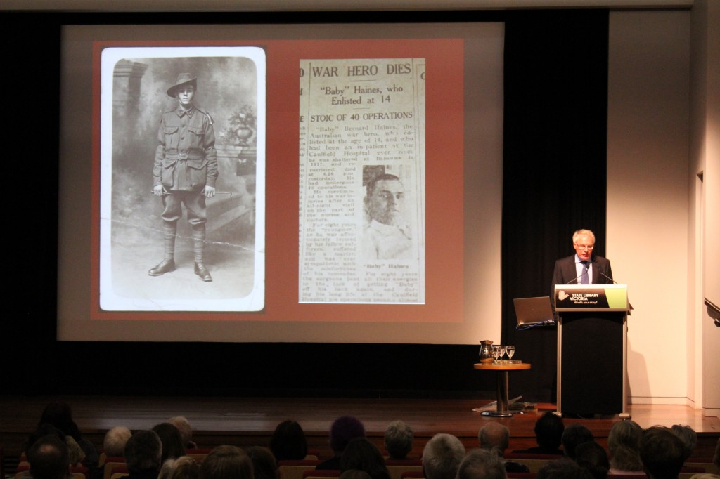Professor Bruce Scates tells the story of Bernard `Baby Haines'