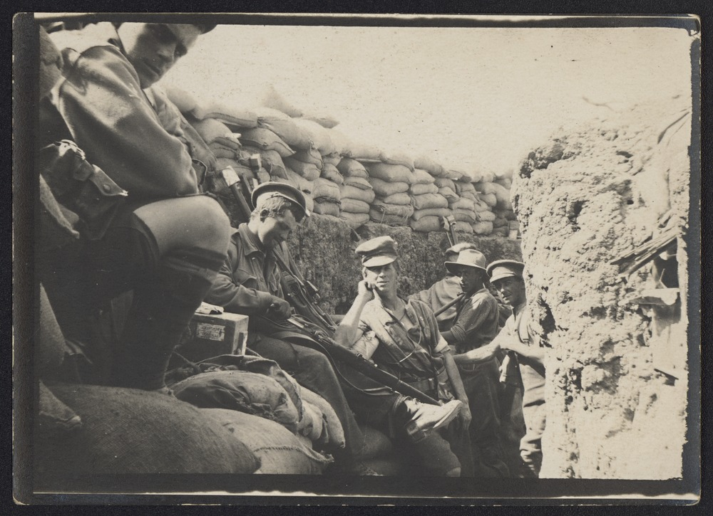 In the front line, Anzac Cove, c1915, State Library Victoria.