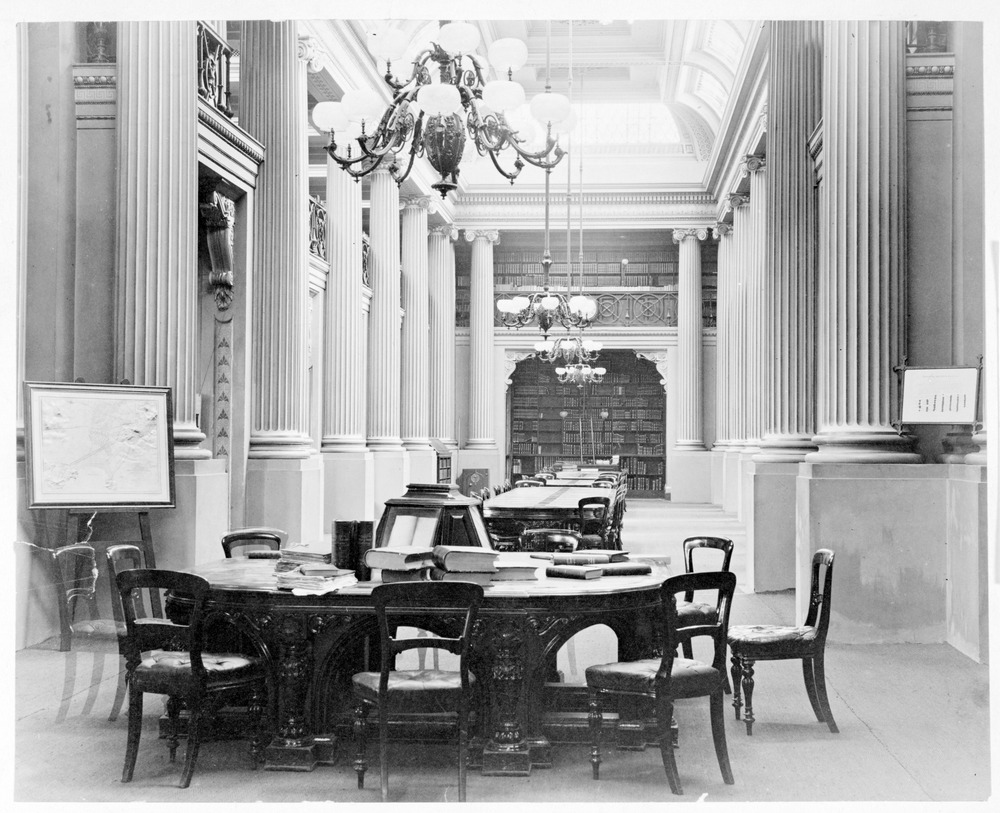 Queen's Hall interior, 1870–1900. Photo: Charles Nettleton