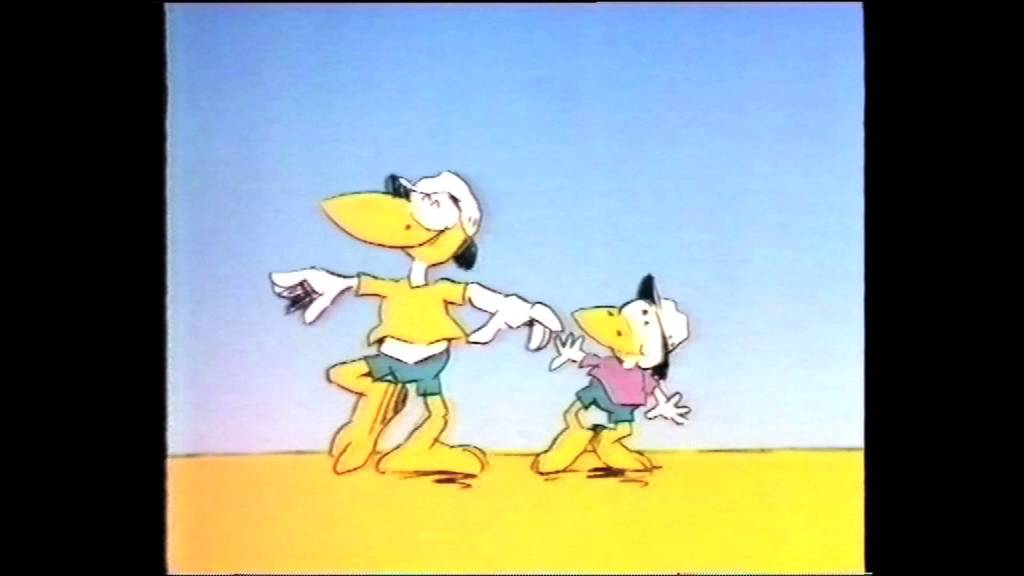 Still of two birds from Slip Slop Slap animation
