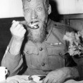 "H98.100/3885. ""Sgt. G. Spedding enjoying Christmas dinner at Caulfield Military Hospital"". ca. 1940-ca. 1941."