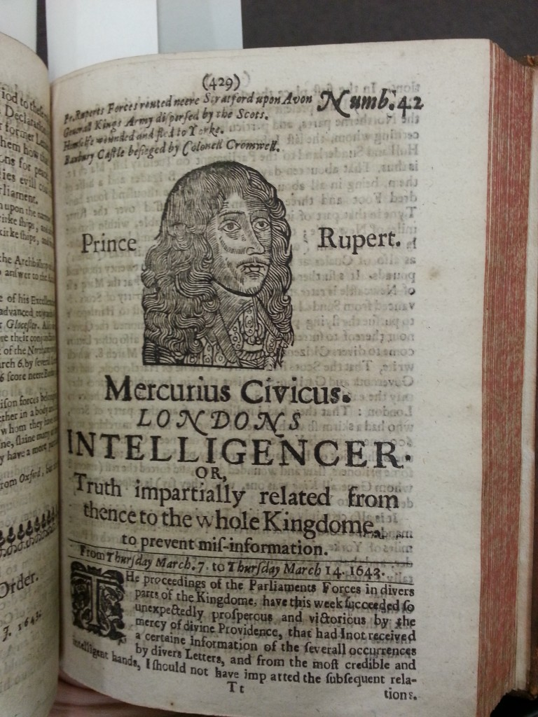Detail image of the Mercurius civicus, Londons intelligencer.