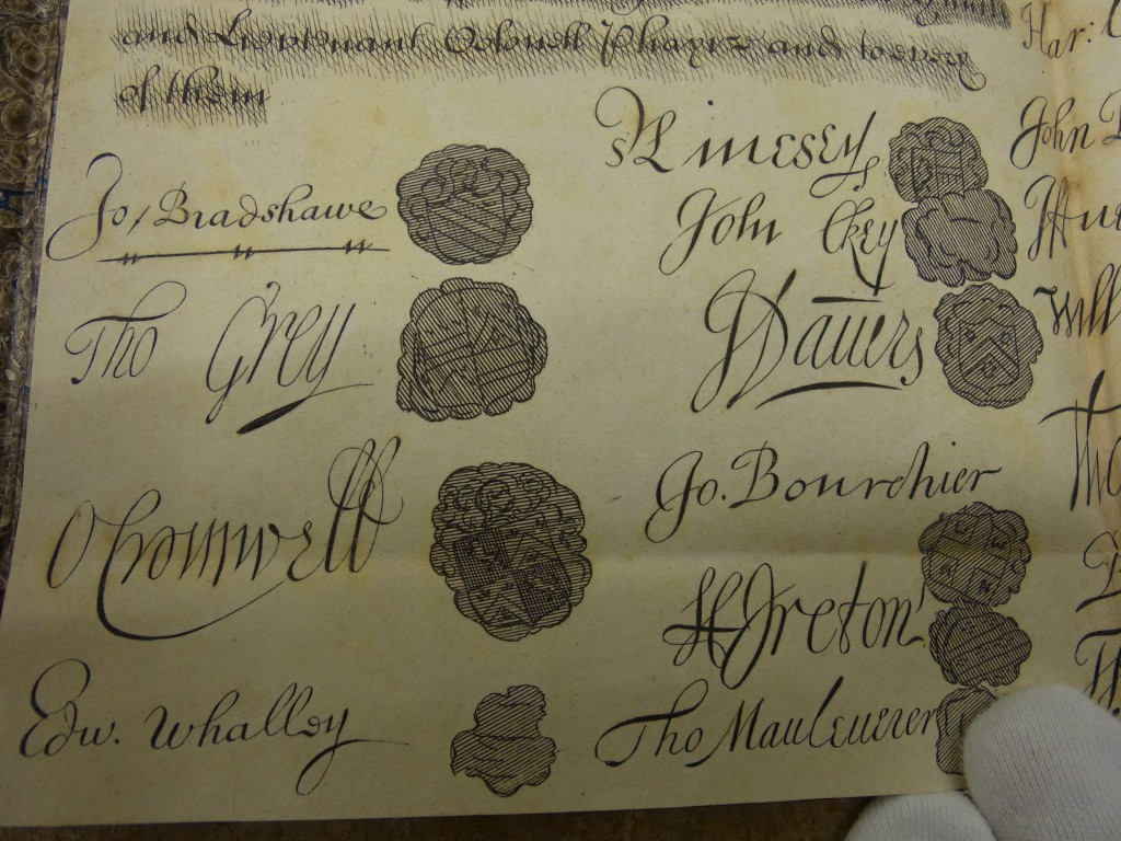 Image of a document with signatures and seals