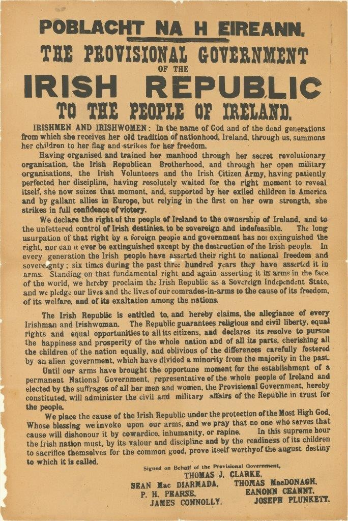 Image of the Proclamation of the Irish Republic