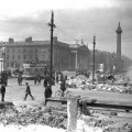 Rubble remains after shelling of Abbey Street and Sackville Street (O'Connell Street), Keogh Brothers, 1916, courtesy National Library of Ireland