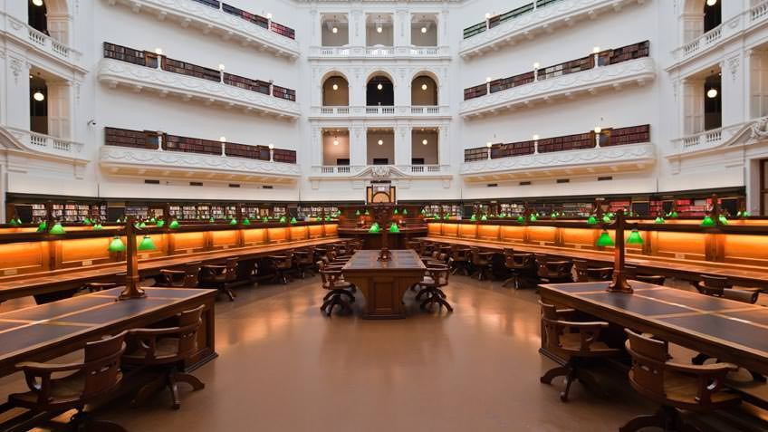 Image of the State Library Victoria's La Trobe Reading Room