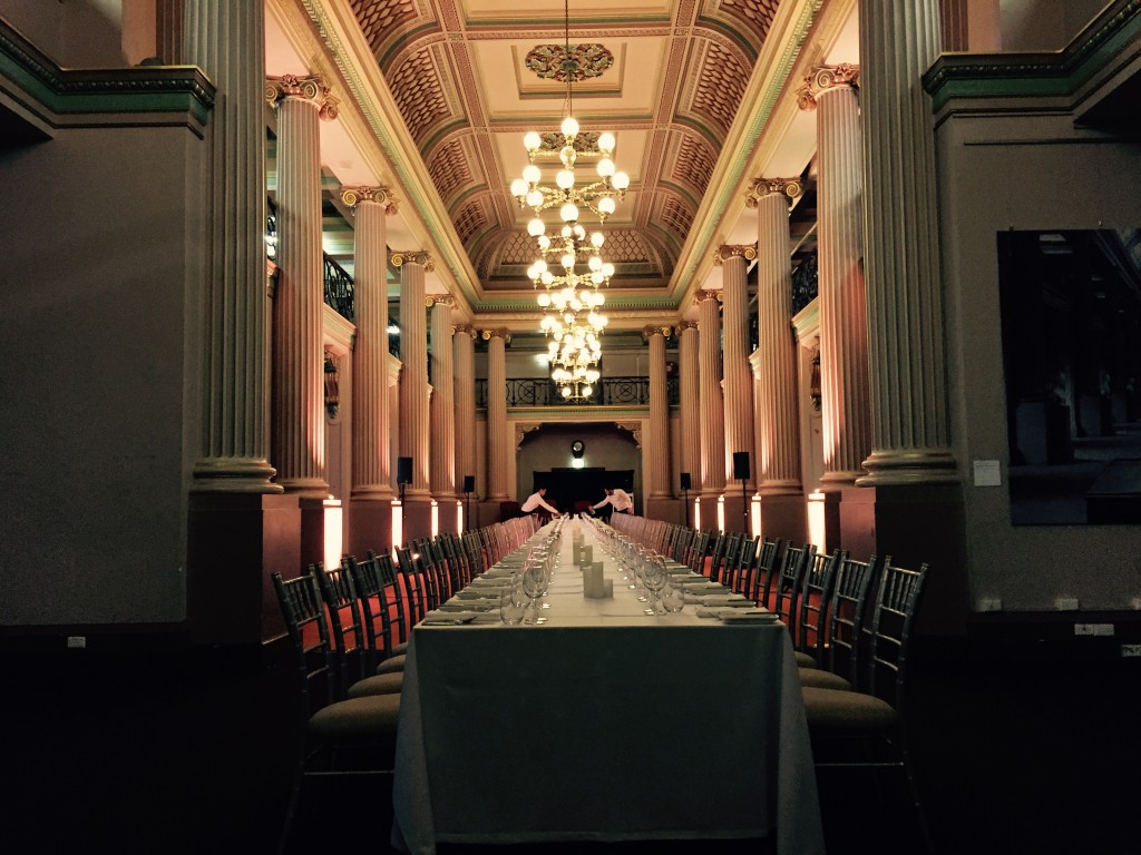 Long table in Queen's Hall