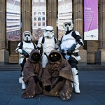 Star Wars characters outside the State Library