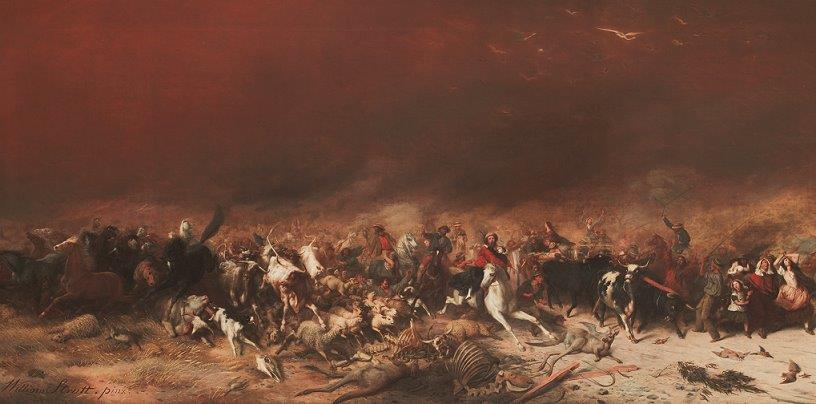 Image of Black Thursday painting by William Strutt