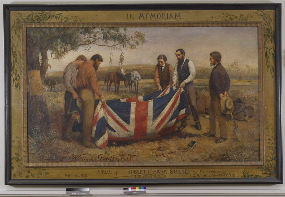 Image of The burial of Burke painting