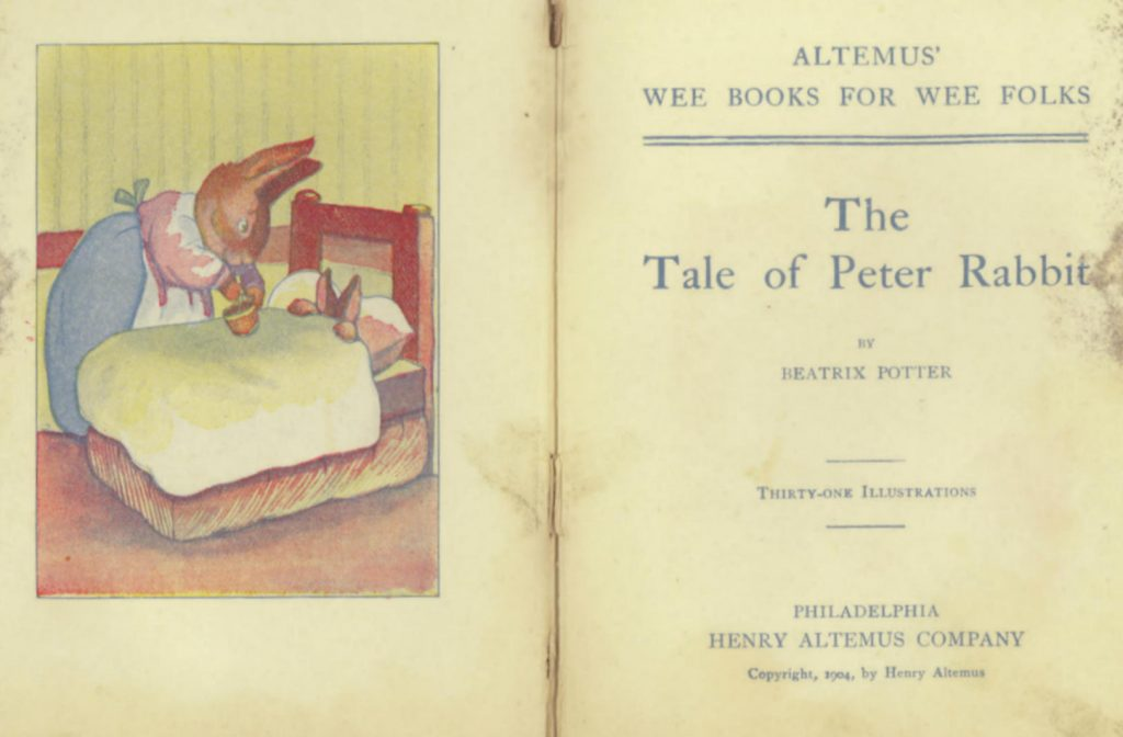 Pirated Peter Rabbit title page