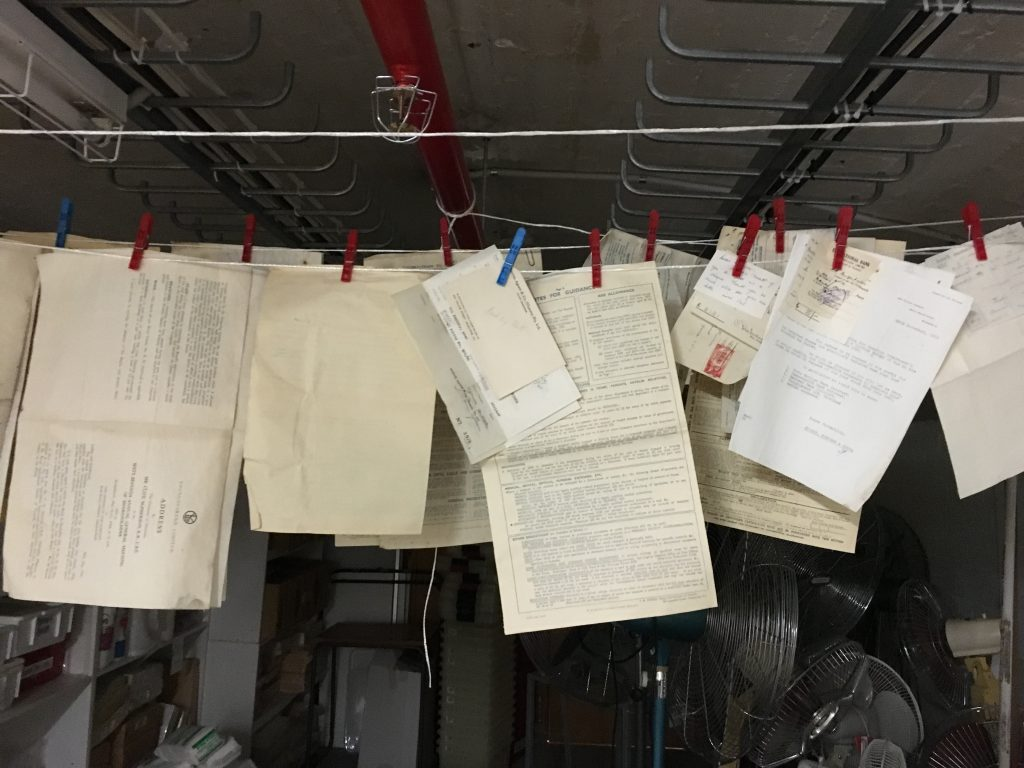 Documents hung out to dry