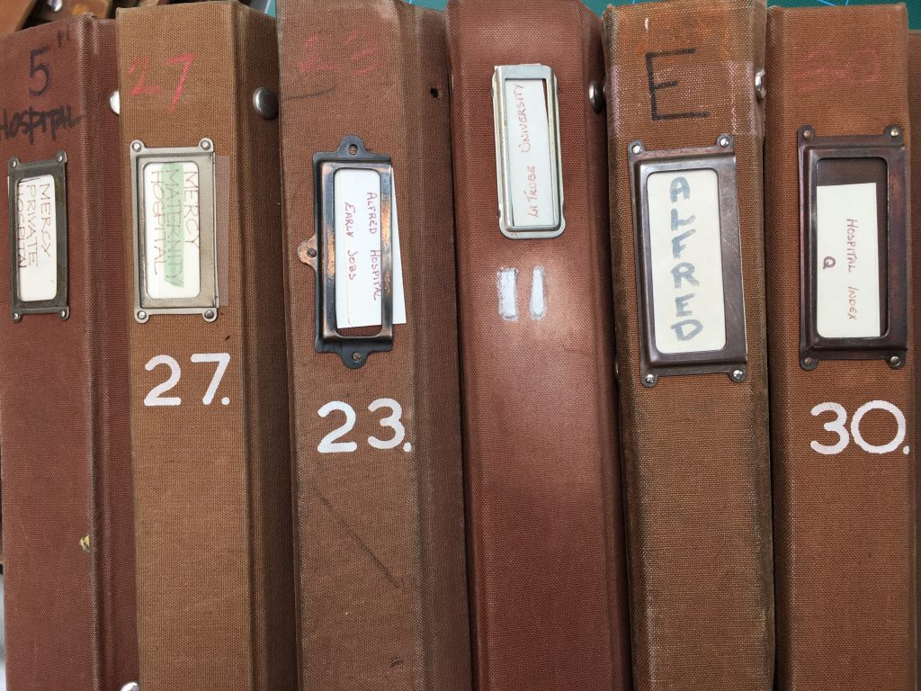original brown binders