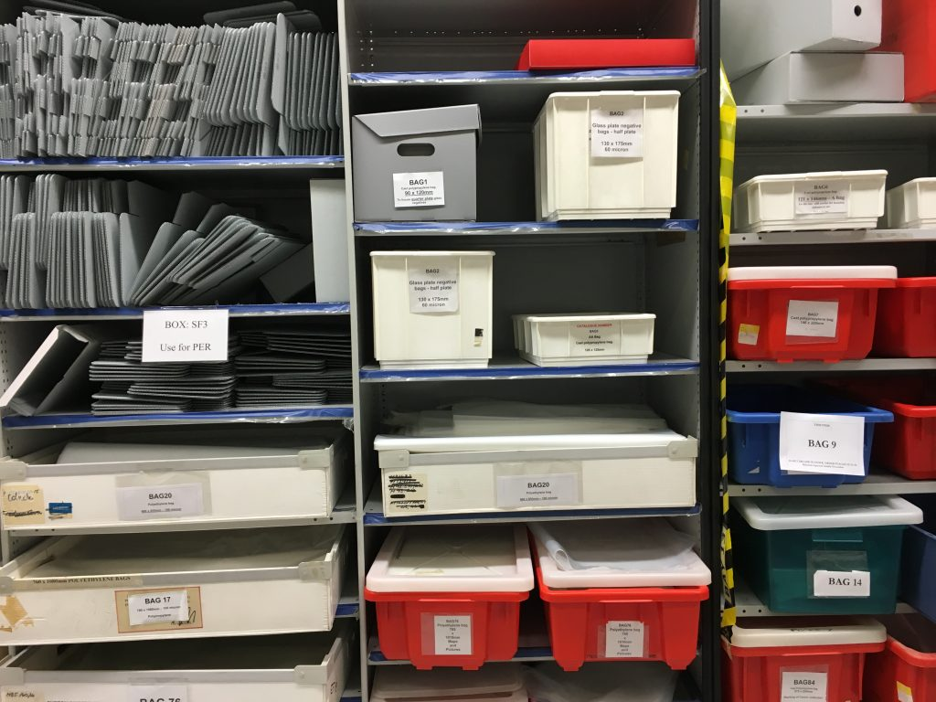 archival materials used for re-housing collections