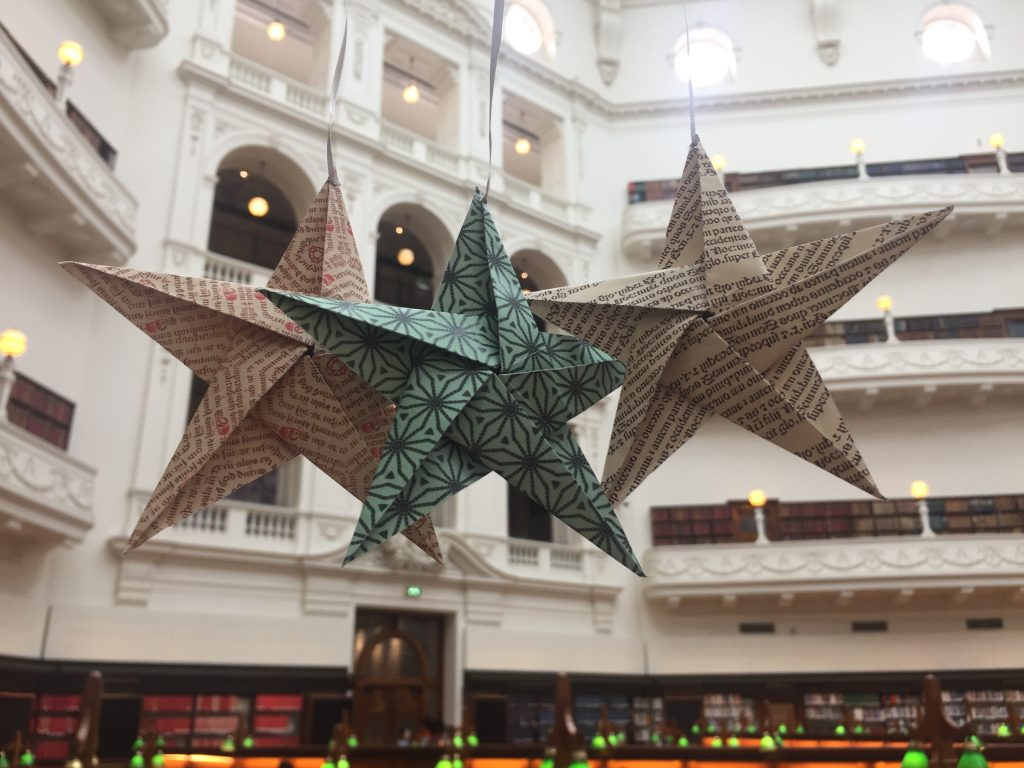 State Library Victoria papercraft stars