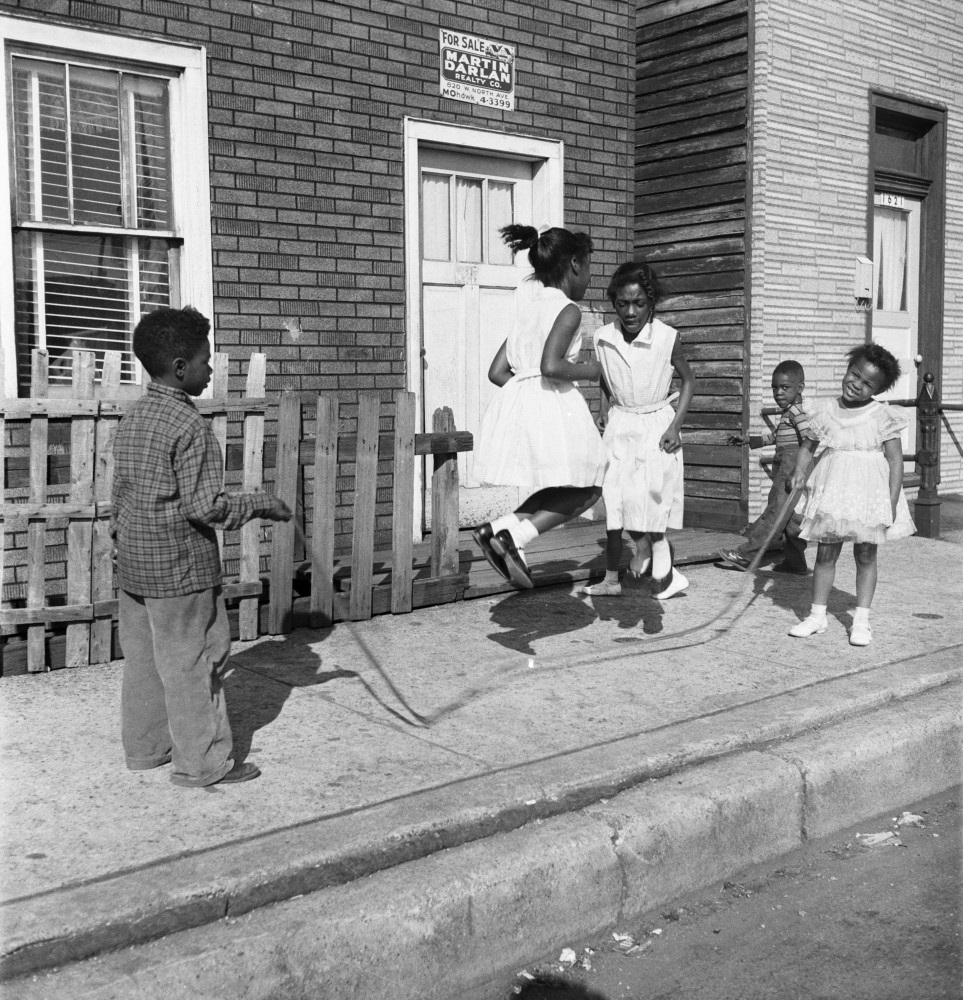 Skipping girls [and boys, Lower North Center, Chicago], Maggie Diaz