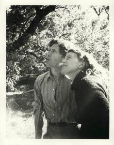 John and Sunday Reed birdwatching at Heide, taken by Albert Tucker, 1998 reprint of a photo taken in 1943.