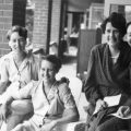 Vivian Bullwinkel far right at the Australian General Hospital, ca. 1945. Source.