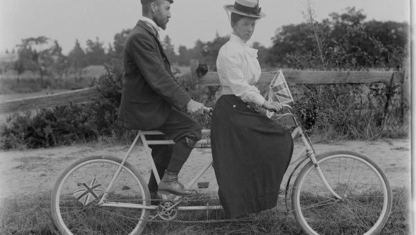 Image of a man and woman on a tandem