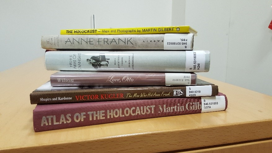 A sample of our books related to Anne Frank and the Holocaust.