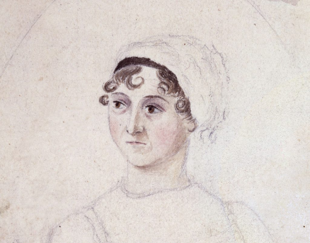 A portrait of Jane Austen