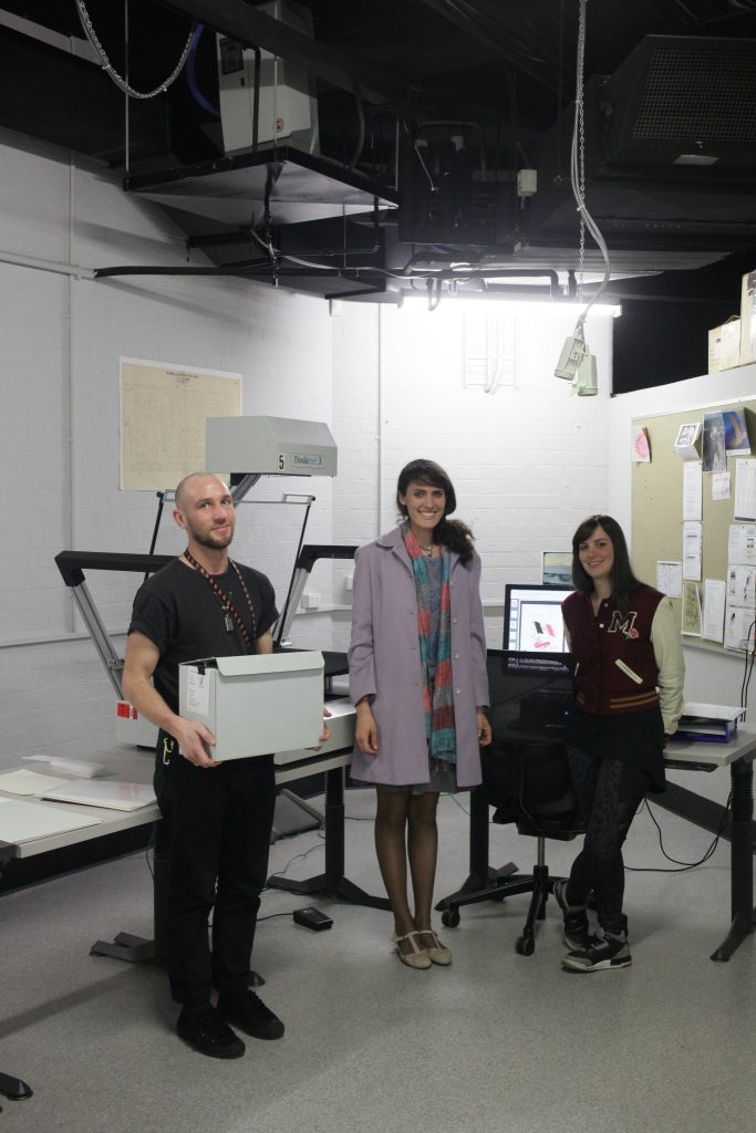 Tom, Melanie and Natalie are part of the Scanning Studio team