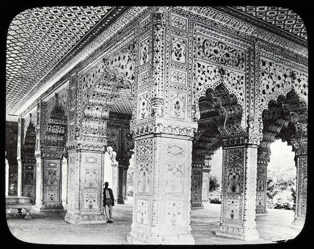 The Diwan-i-Khas, or private hall of audience, [Red Fort, Agra, India]