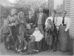 Photographs of the Hoddinott family