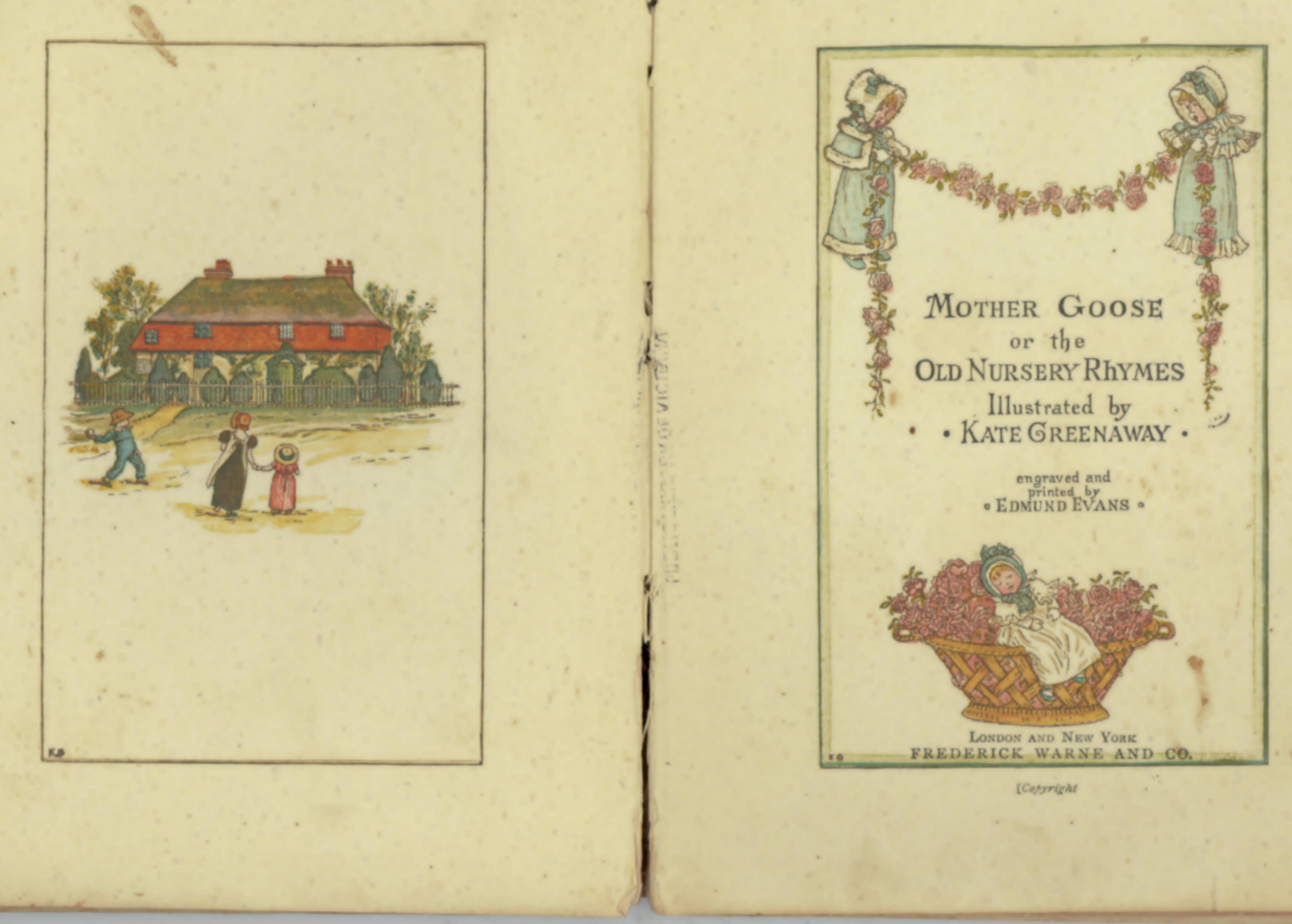 Title page of Mother Goose by Kate Greenaway