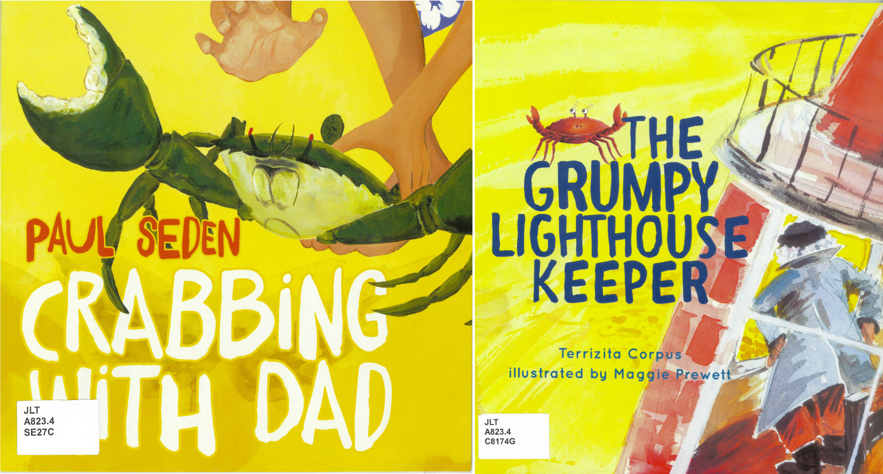 Crabbing with dad by Paul Sedden, The grumpy lighthouse keeper by Territzita Corpus