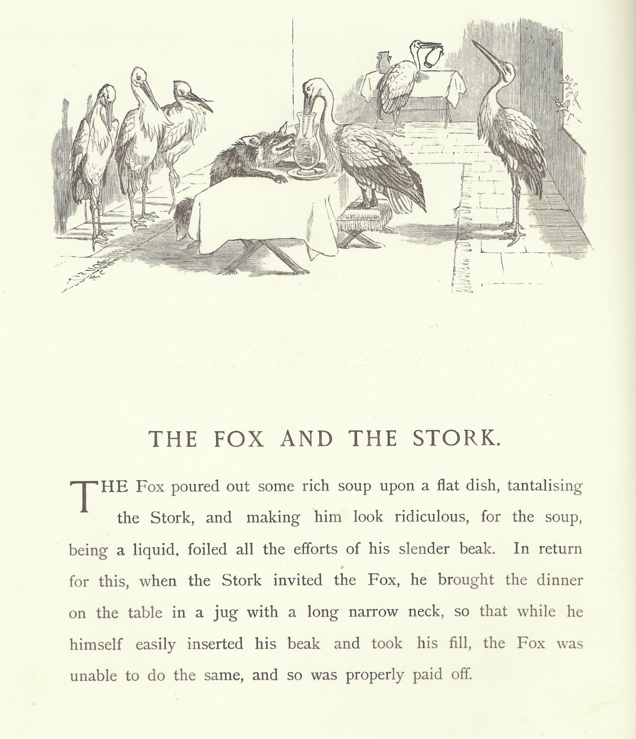Aesop's Fox and the Stork
