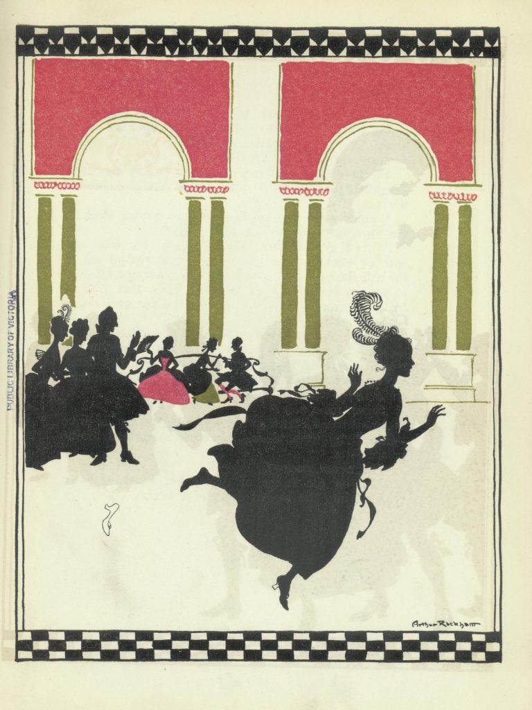 Image of Cinderella fleeing the ball