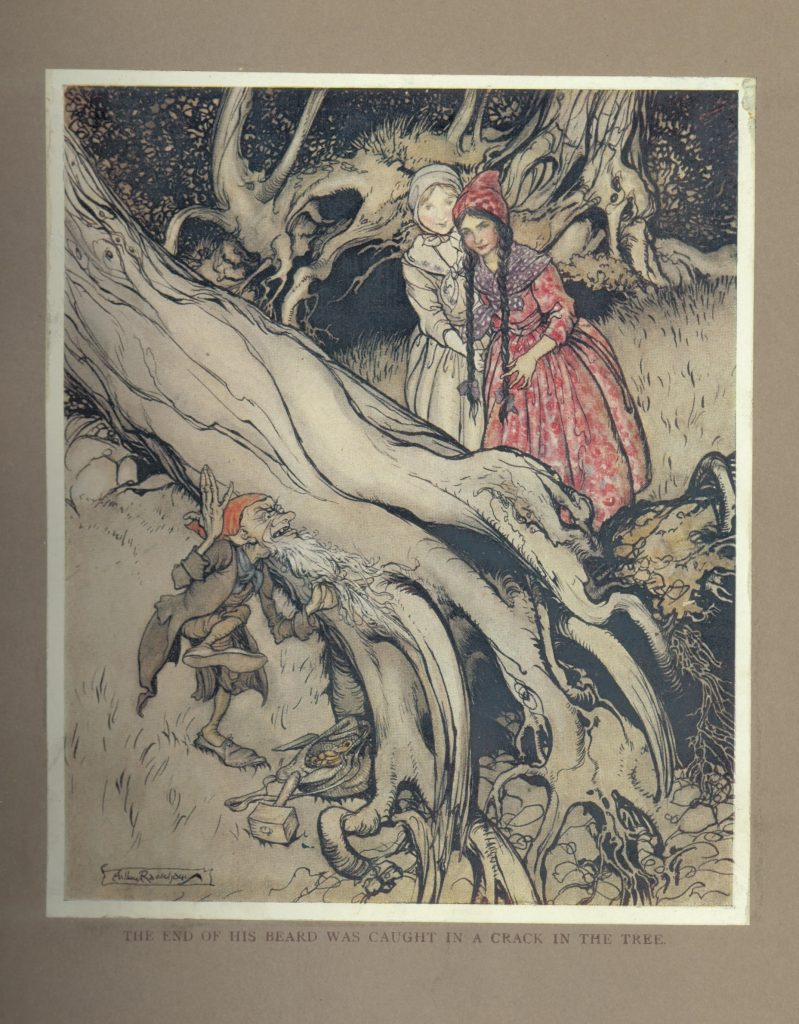 Image of Snow White and Rose Red from Grimms' tale