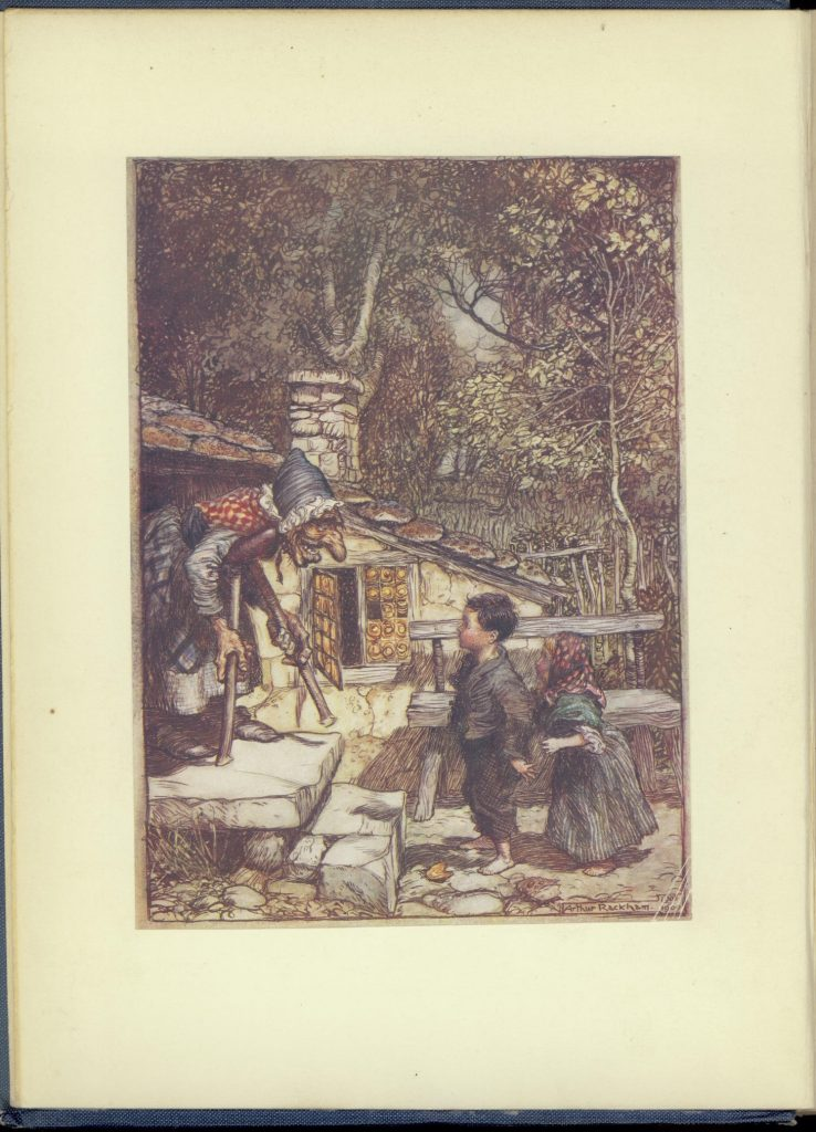 Image of Hansel and Gretel at the witch's cottage