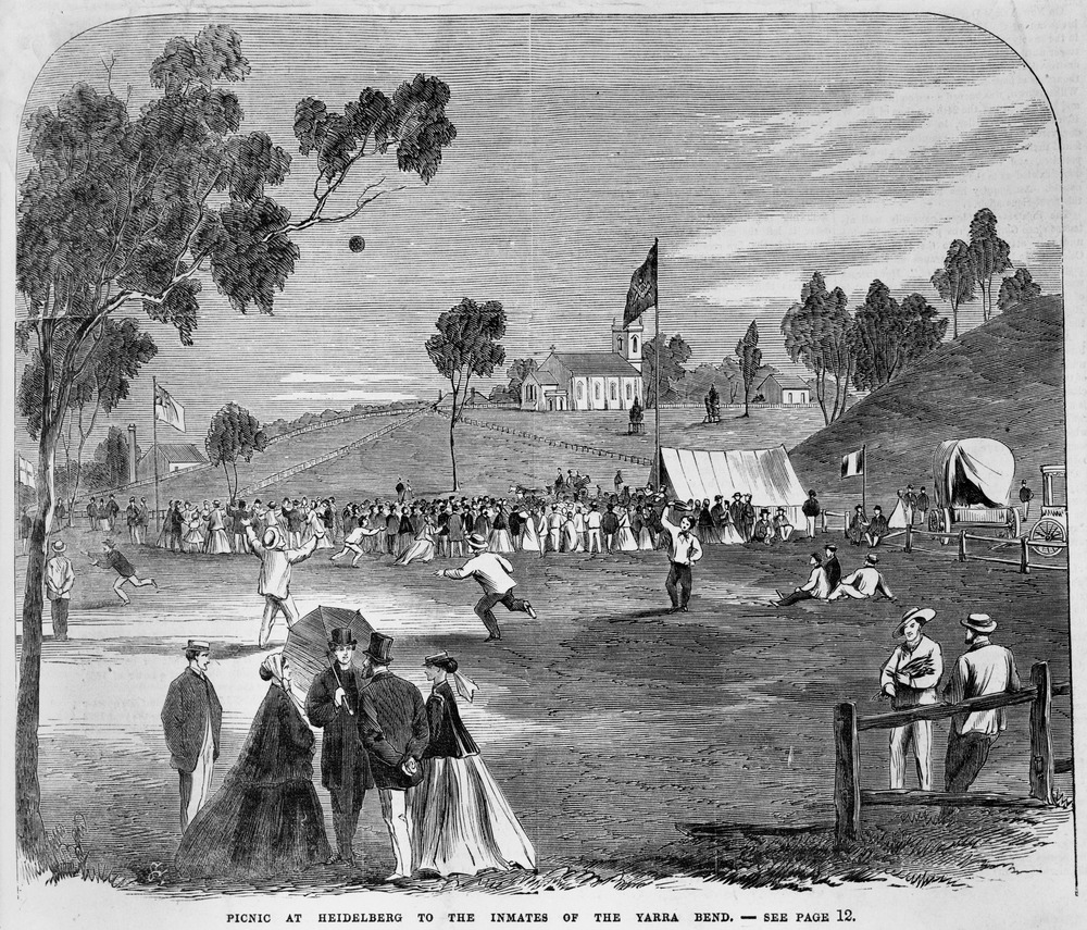 Image of the Picnic at Heidelberg, from the Illustrated Melbourne Post of 1867