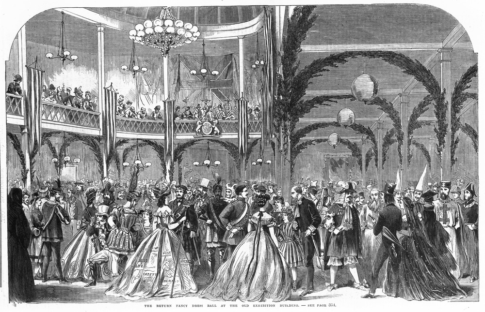 Image of The Return fancy dress ball at the Exhibition Building