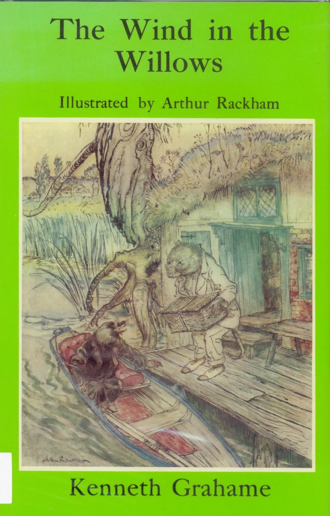 Image of cover of Wind in the willows illustrated by Arthur Rackham