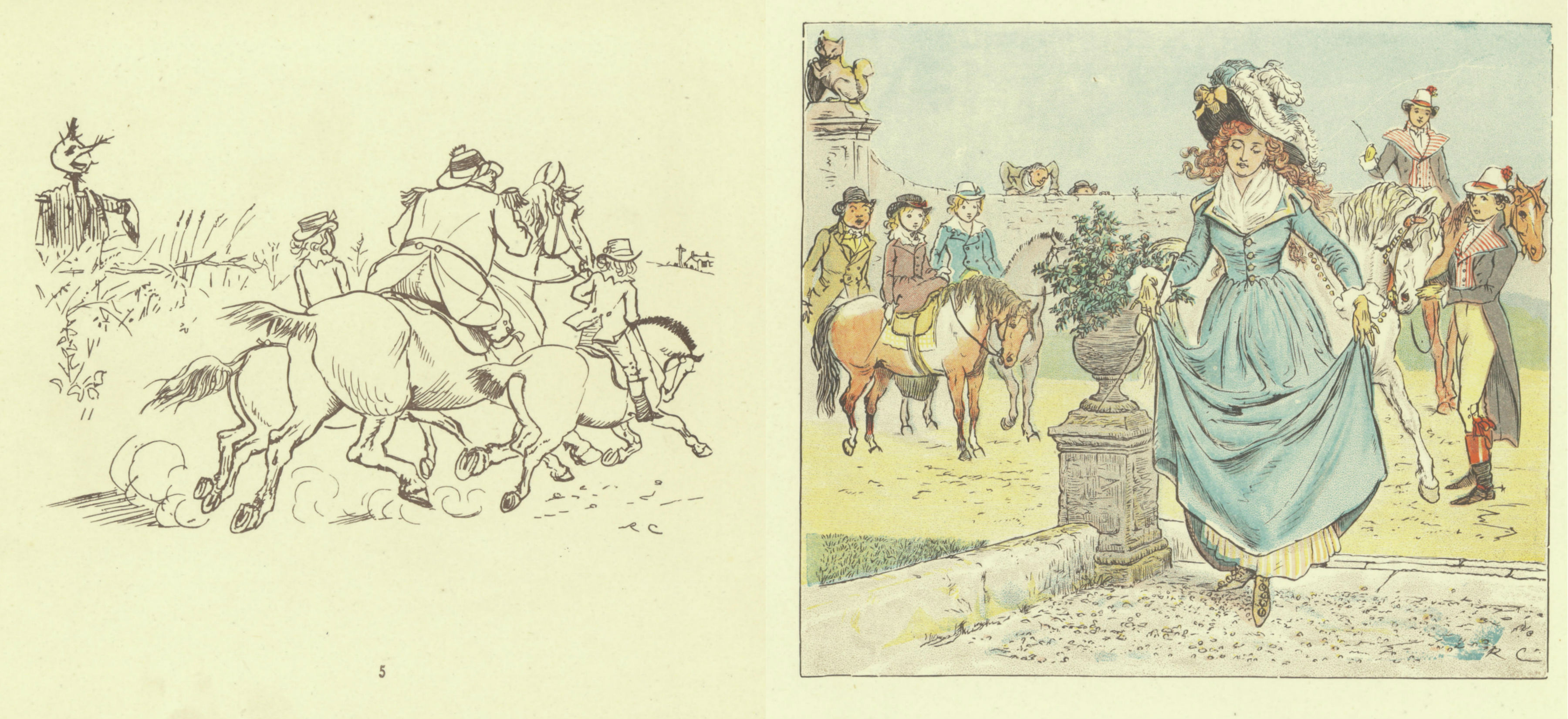Illustrations from Ride a cock horse to Banbury Cross
