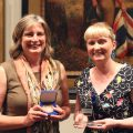 Erica Wagner, 2017 Dromkeen Medal winner, and Megan Daley, 2017 Dromkeen Librarian's Award winner.
