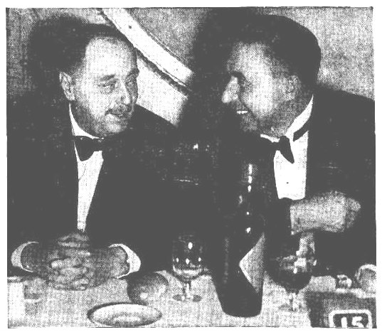 HG Wells at the dinner hosted for him in Sydney by the Australian Fellowship of Writers with the President