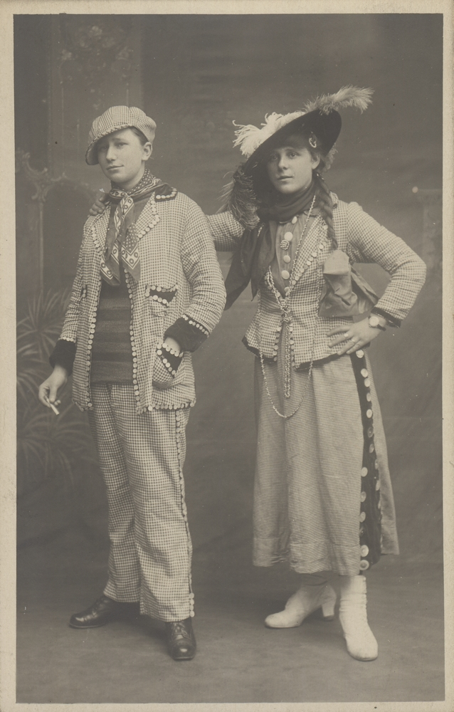 Two women in costume