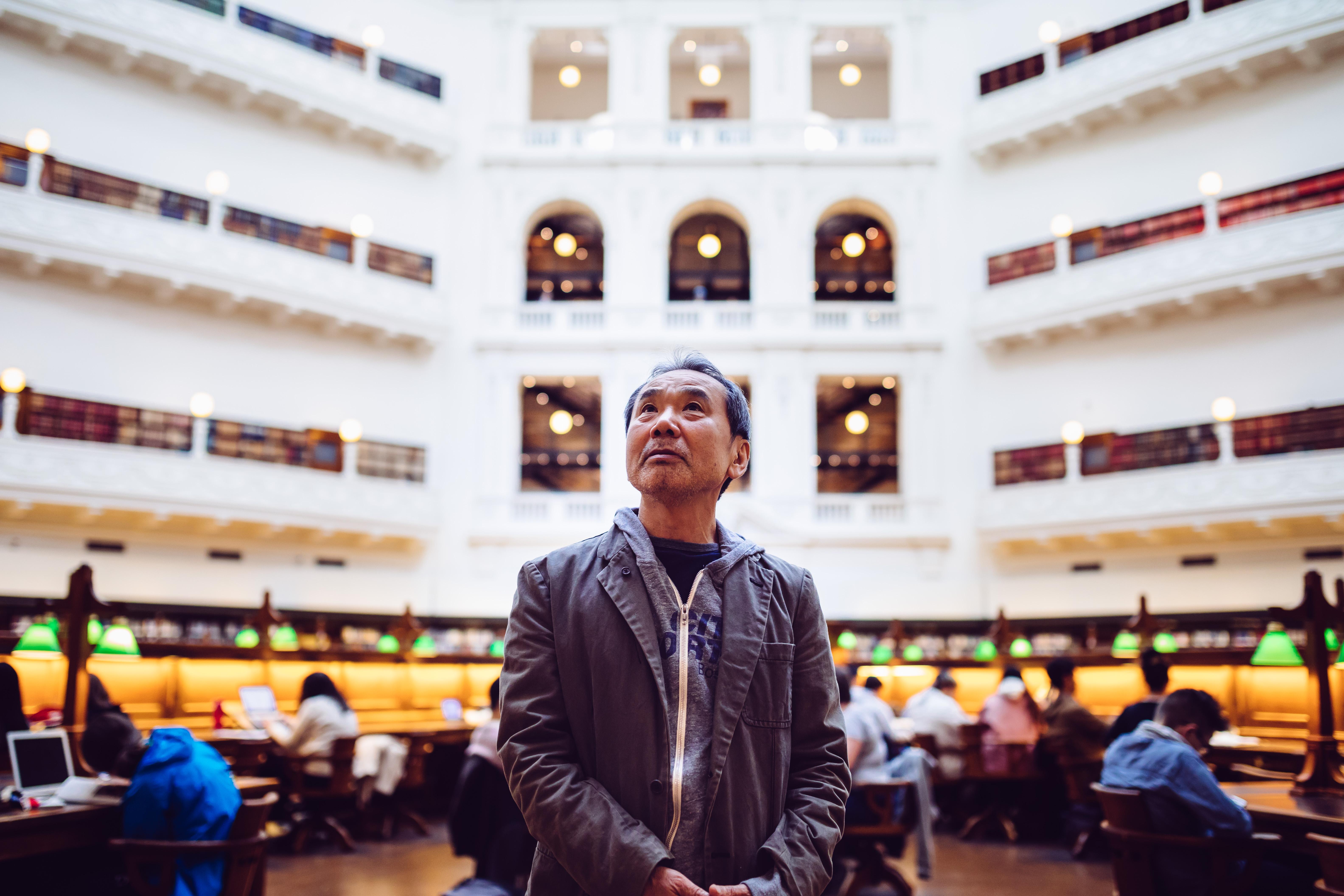 Haruki Murakami visits State Library Victoria.