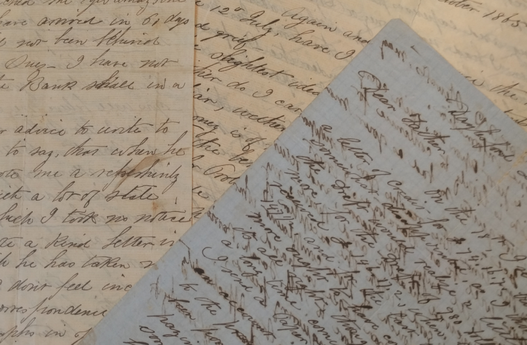 pages of handwritten letters