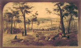 Eagle Hawk, Bendigo. 1852, ST Gill