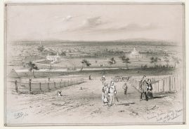 Cremorne Gardens from South Side of Yarra nr Col- Andersons, ST Gill, 1855