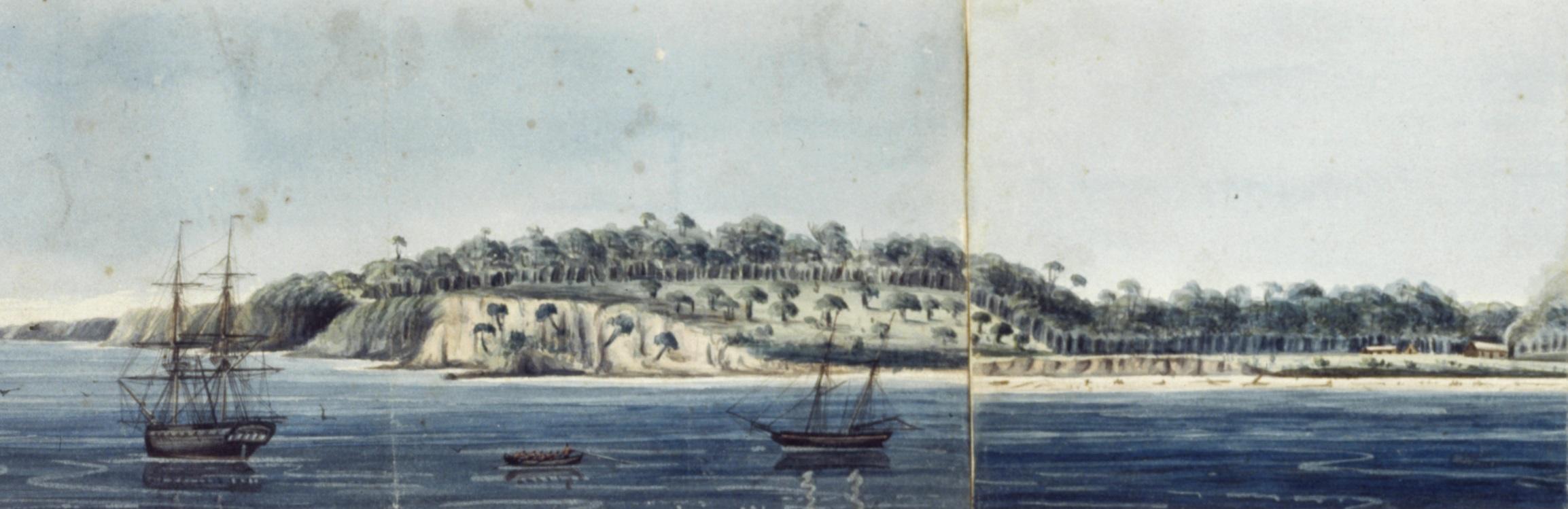 watercolour of Portland Bay