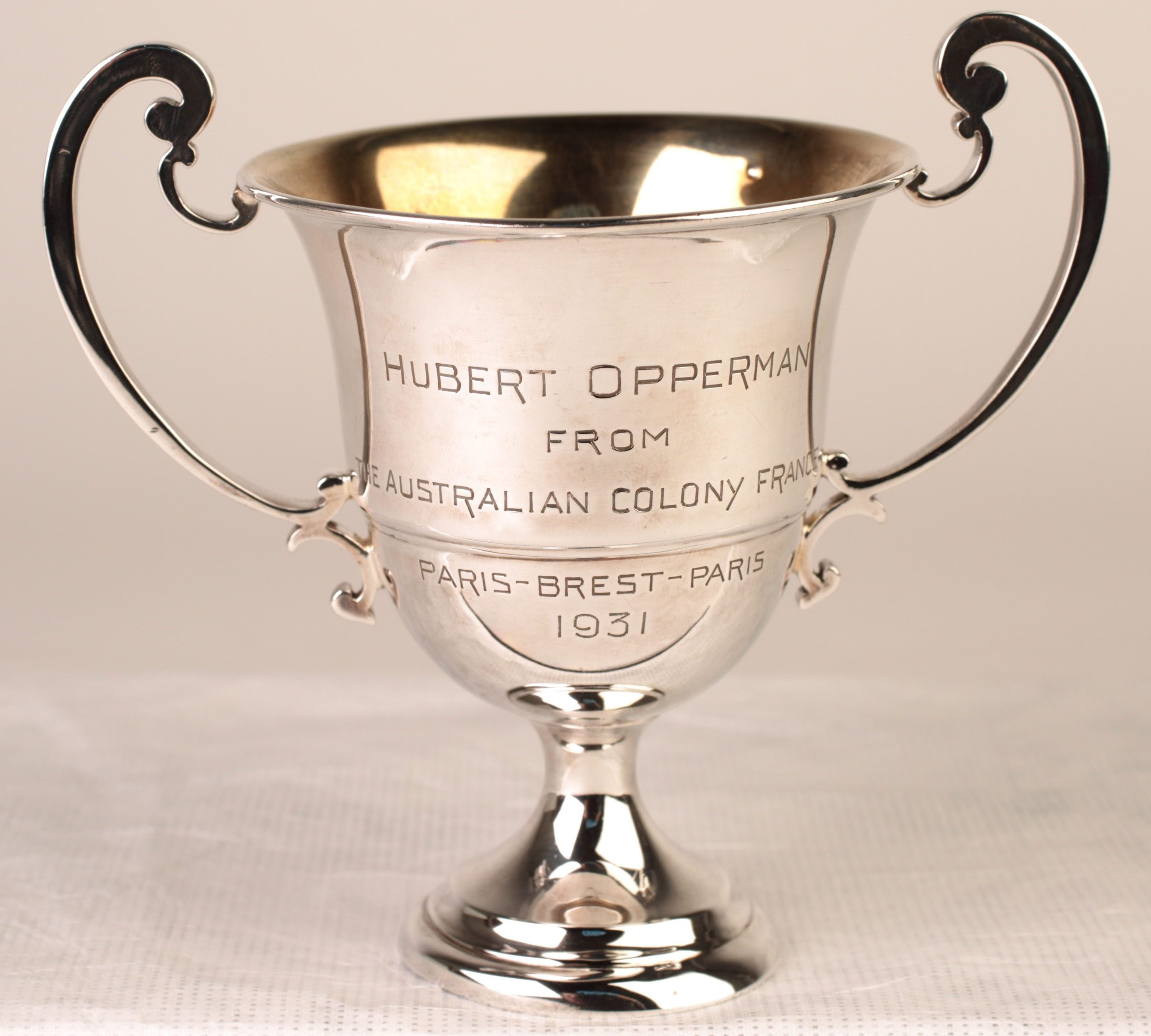 cup trophy showing cleaned surface
