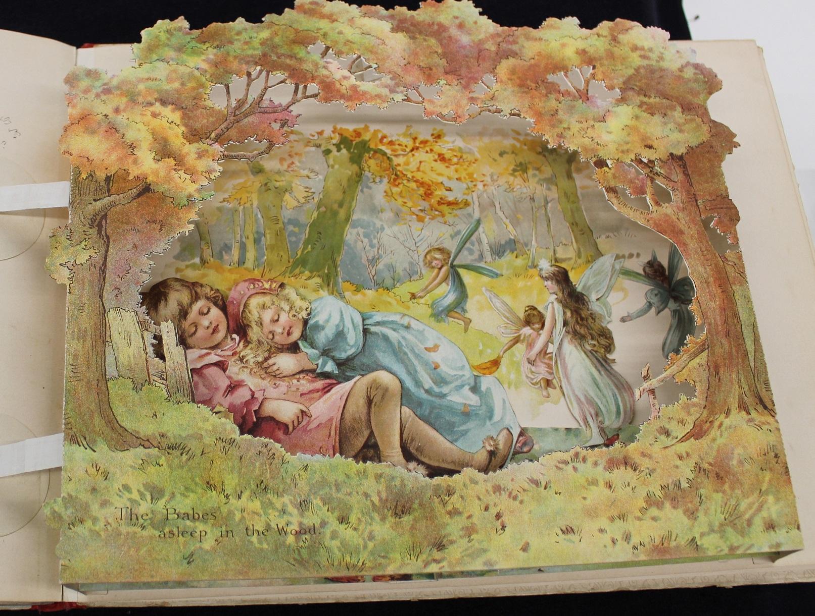 pop up book of children sleeping