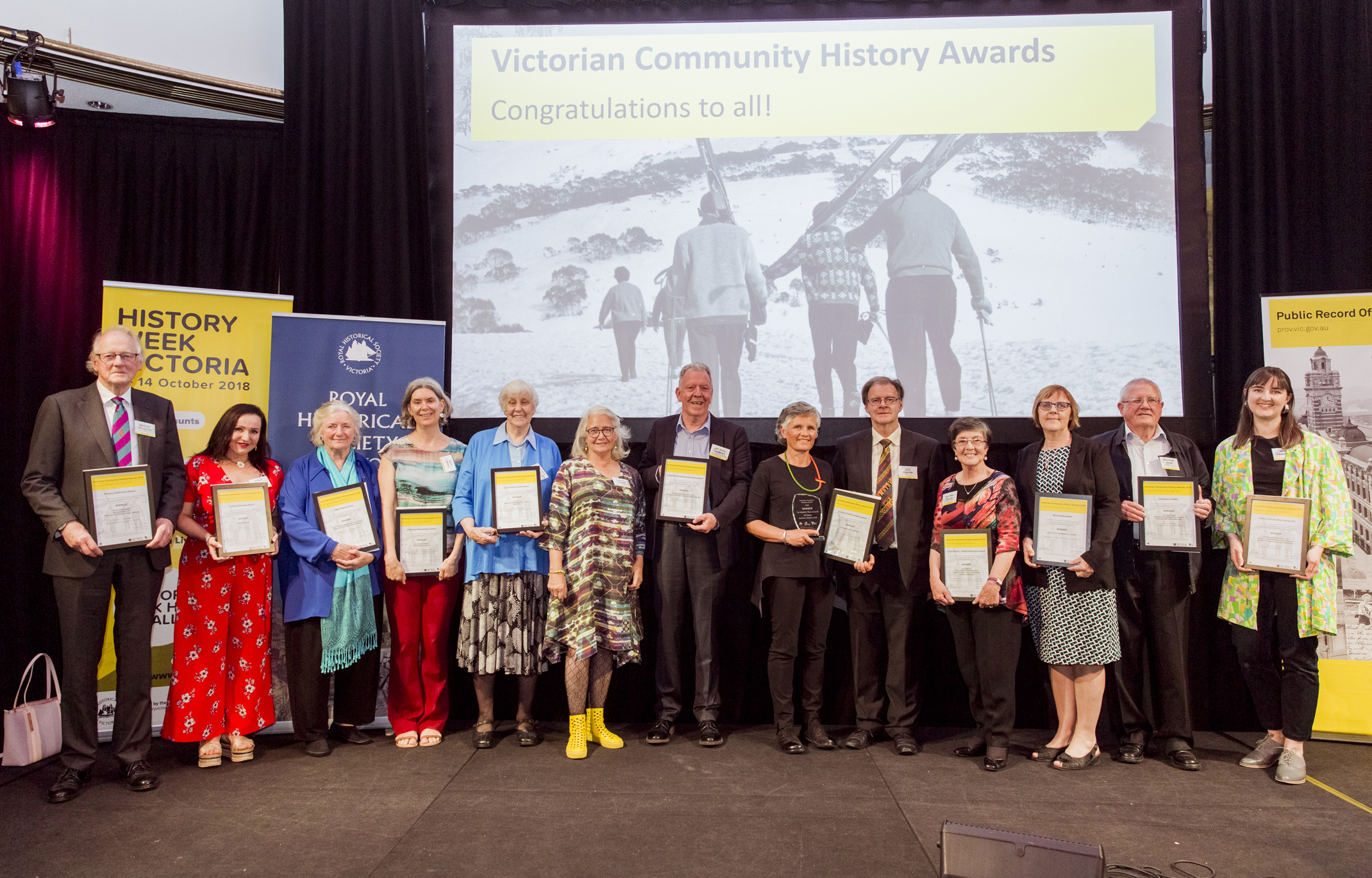 All Victorian Community History Award winners