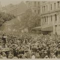 Armistice Day, corner of Collins and Swanston Streets, Melbourne 1918